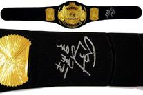 Ric Flair Signed Replica HWT Championship Belt - Autographed