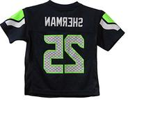 Richard Sherman Seattle Seahawks Navy Blue NFL Kids 2013-14