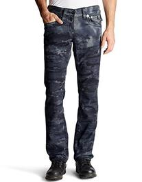 True Religion Men's Ricky Straight Leg Big T Jean in Black/