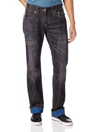 True Religion Men's Ricky Straight Leg Revese Dye Jean in