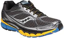 Saucony Men's Ride 7 Running Shoe,Grey/Yellow/Blue,8 M US