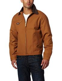 Dickies Men's Rigid Duck Blanket Lined Jacket, Brown Duck,