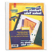 -- Ring Binder Divider Pockets With Index Tabs, 8-1/2 x 11,
