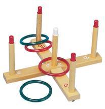 Champion Sports Ring Toss Set, Plastic/Wood, Assorted Colors