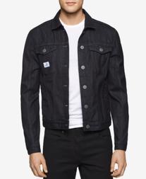 Calvin Klein Jeans Men's Rinse-Wash Denim Trucker Jacket