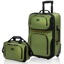 U.S. Traveler RIO 2-Piece Expandable Carry-On Luggage Set,