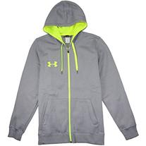 Under Armour Men's Rival Fitted Full Zip, Black/Black, XXX-