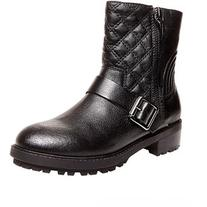 Steve Madden Rivalree Quilted Leather Mid-Calf Boots