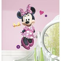 RoomMates RMK2008GM Mickey and Friends Minnie Bow-tique Peel