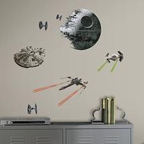 RoomMates RMK3012SCS Star Wars EP VII Spaceships P&S Wall