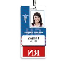 RN Vertical Badge Buddy with Red Border by Specialist ID,