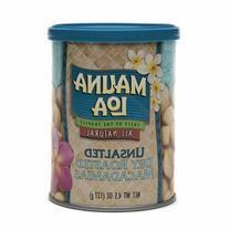 Mauna Loa Roasted Unsalted Macadamia Nuts Can, 4.5 oz