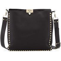 Valentino Rockstud Flip-Lock Messenger Bag