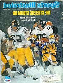 Rocky Bleier autographed Sports Illustrated Magazine  PSA #