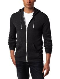Alternative Men's Rocky Fleece Hoodie Sweater, Eco Black,