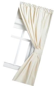 Carnation Home Fashions Vinyl Bathroom Window Curtain, Bone
