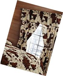 20 Lakes 5 Piece Rodeo Cow Print Curtain Drapes / Panels,