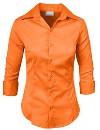 NE PEOPLE Roll Up 3/4 Sleeve Button Down Shirt with Stretch-