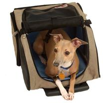 Snoozer Roll Around 4-in-1 Pet Carrier, Khaki, Black & Blue