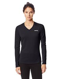 ASICS Women's Roll Shot Jersey, Black, Large