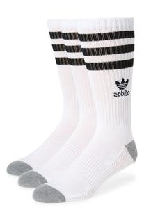 Men's Adidas 3-Pack Original Roller Crew Socks, Size One