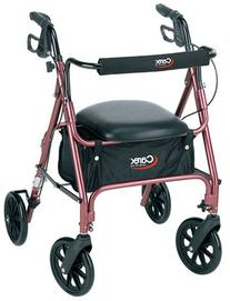 Carex Rolling Walker / Rollator with Padded Seat and