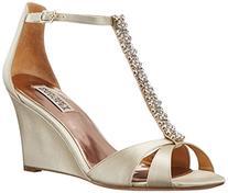 Badgley Mischka Women's Romance Wedge Sandal, Ivory, 6 M US