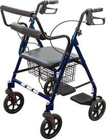 Roscoe Medical ROS-RLTRAN-BL Transport Rollator, Blue
