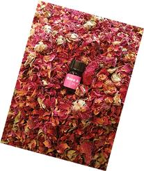 bMAKER Dried Rose Buds& Petals Red 1 Lb Food Grade Edible |