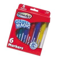 RoseArt CYB78 Glitter Magic Markers Washable Assorted Colors