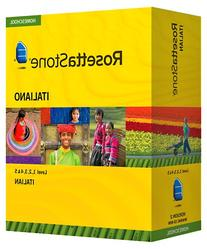 Rosetta Stone Homeschool Italian Level 1-5 Set including