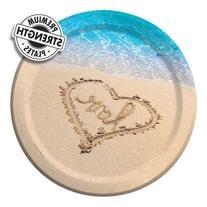 10 inch Round Banquet Plates Beach Love 96 Ct