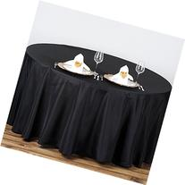 BalsaCircle 90-Inch Black Round Polyester Tablecloth Table