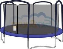 Trampoline Safety Enclosure Net 15-Foot 4 Arch for Jumpking