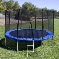 Best Choice Products 12' Round Trampoline Set 4 legs W Frame