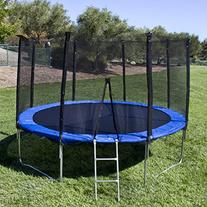 Best Choice Products 12' Round Trampoline Set With Safety