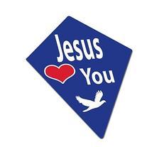 "26"" Royal Blue Jesus Loves You Kites"