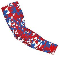 New! Royal Blue Red White Digital Camo Arm Sleeve - Moisture