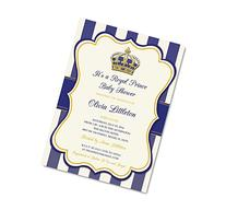 Royal Prince Baby Shower Invitation - Prince Baby Shower