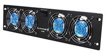 """Rockville RRF4 19"""" Rack Mount 4 Fan Cooling System with LED"""