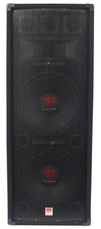 "Rockville Dual 12"" 2000 Watt 3-Way 8-Ohm Passive DJ/Pro"