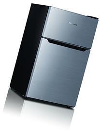 Hisense RT33D6BAE Compact Refrigerator with Double Door Top