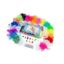 LoomLoom Rubber Bands, Pack of 4000, Rainbow Colors