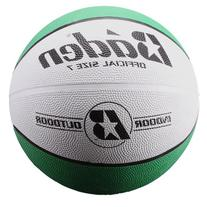 Baden Official  Rubber Basketball, Green/White, 27.5-Inch