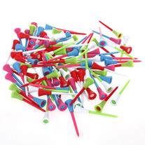 EK 100pcs 3 3/8 inch Rubber Cushion Top Plastic Golf Tees