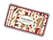 Cavallini Rubber Stamps Vintage Numbers, Assorted with Ink