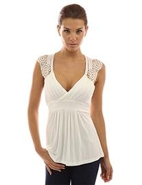 PattyBoutik Women's Ruched Eyelet Tie Back Sleeveless Tops