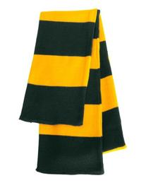Sportsman - Rugby Striped Knit Scarf - SP02 - Forest/Gold