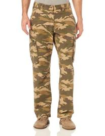 Men's Rugged Cargo Pant Relaxed Fit,Khaki Camo,31 x 34