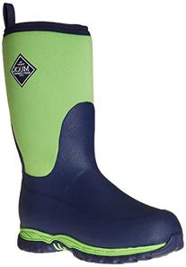 Muck Boot Kids' Rugged II Pullon, Lime/Blue, 7 M US Toddler